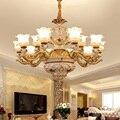 Роскошные люстры в европейском стиле  лампа для гостиной  вилла  освещение  лобби  французская люстра  цветок  прозрачное стекло  абажур свет...