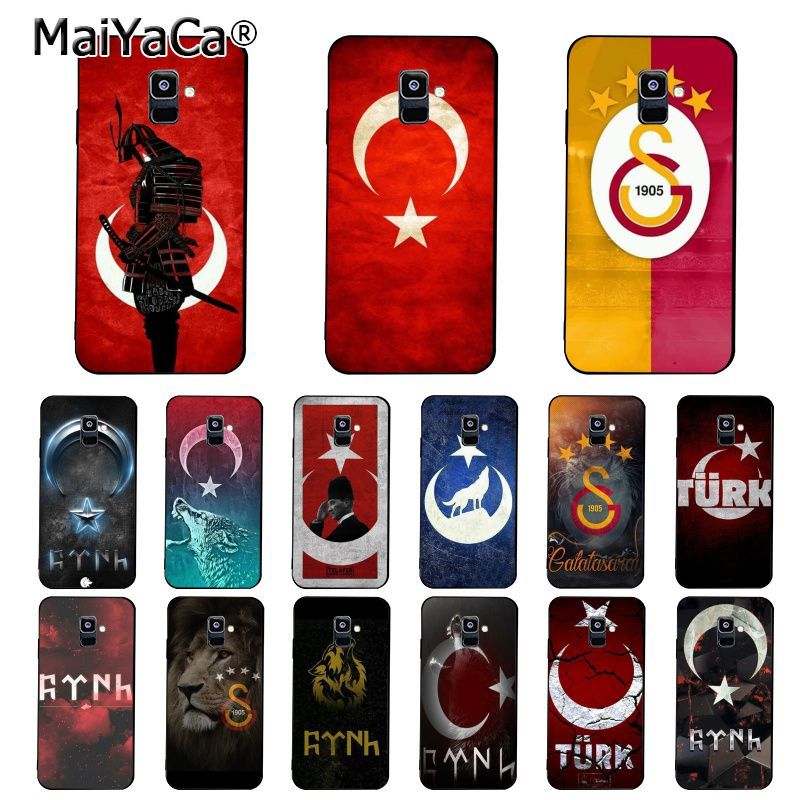 MaiYaCa Flag Turkey <font><b>Istanbul</b></font> Antalya mustafa Galatasaray Phone Case For Samsung Galaxy A7 A50 A70 A40 A20 A30 A8 A6 A8 Plus A9 image