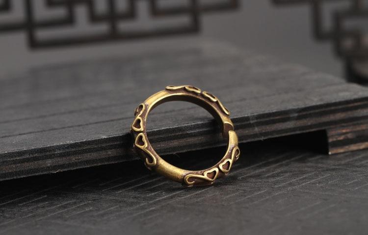 copper key rings (2)