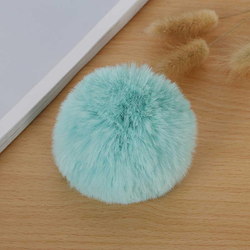 Chaveiro de pele de coelho artificial de 8cm de venda quente chaveiro de pele de coelho feminino saco de carro chaveiro adorável fofo bola de pele de raposa do falso chaveiro pompom bola