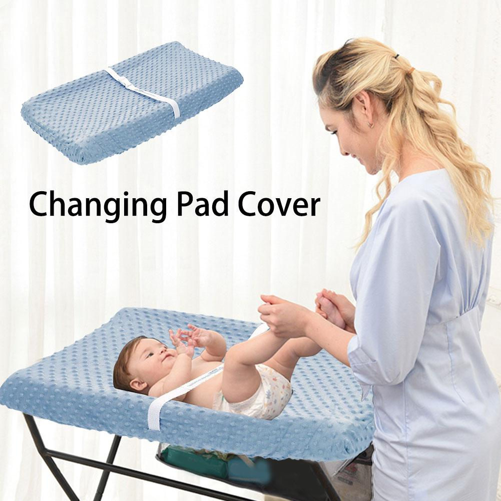 High Quality Polyester Fiber 32*16*4cm Changing Pad Cover Breathable Changing Table Sheet For Baby