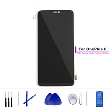Amoled For Oneplus 6 A6000 Lcd Screen Display+Touch Glass DIgitizer Together Repair broken 1+6 screen oneplus6 LCDS