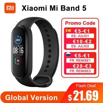 Global Version Xiaomi Mi Band 5 Smart Bracelet 4 Color AMOLED Screen Miband 5 Smartband Fitness Traker Waterproof Smart Band 5 1