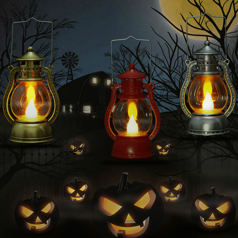 Hanging Light Lamp Halloween Led Lantern Portable Light Vintage Creative Flameless 2019 Best Gift Electronic Wall Decor Home