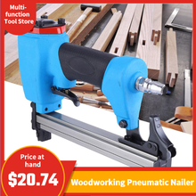 U type Pneumatic Air Stapler 13mm Nailer Fine Stapler Tool Furniture Blue Nailer Woodworking Pneumatic Air Power Gun Riveter