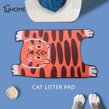 Водонепроницаемый коврик для кошачьего туалета мультяшный в