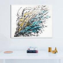 Красочный холст Постер абстрактная живопись современная мода