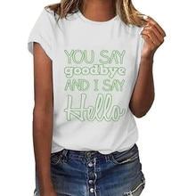2020 New T Shirt Women Oversize Patrick's Day Green Letters Print O-neck Short Sleeve Ladies Tops Tunics T-shirt Cotton P3