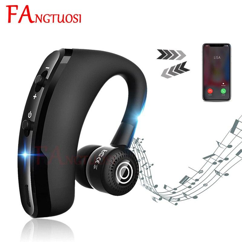 FANTUOSI беспроводные Bluetooth наушники стерео бизнес гарнитура с микрофоном громкой связи спортивные наушники-Крючки для iPhone XR huawei
