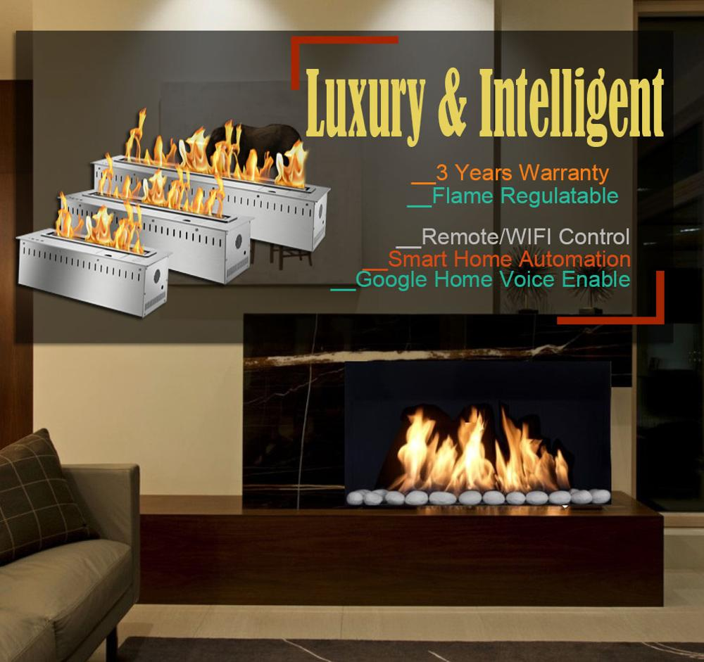 Inno Living 30 Inch Remote Control Fireplace Insert With Bio Ethanol Fuel