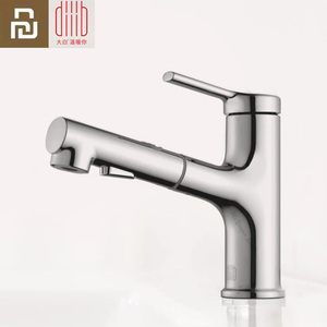Image 1 - Youpin DABAI Bathroom Basin Sink Faucet w/ Pull Out Rinser Sprayer Gargle Brushing 2 Mode Mixer Tap Cold & Hot Bathtub Faucet