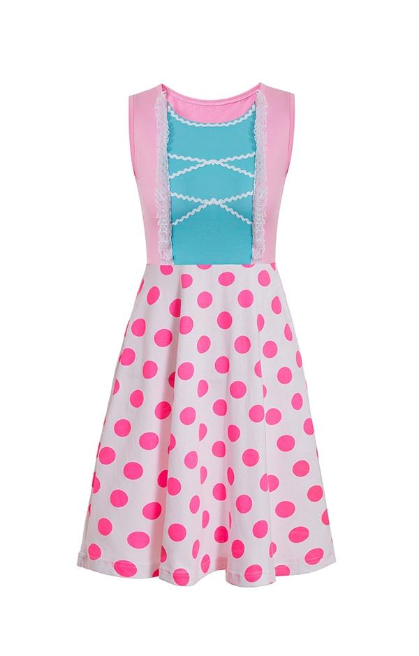 Платье принцессы для взрослых; одинаковый семейный маскарадный костюм «Минни Маус и я»; женское платье принцессы в горошек; большие размеры - Цвет: Bo peep
