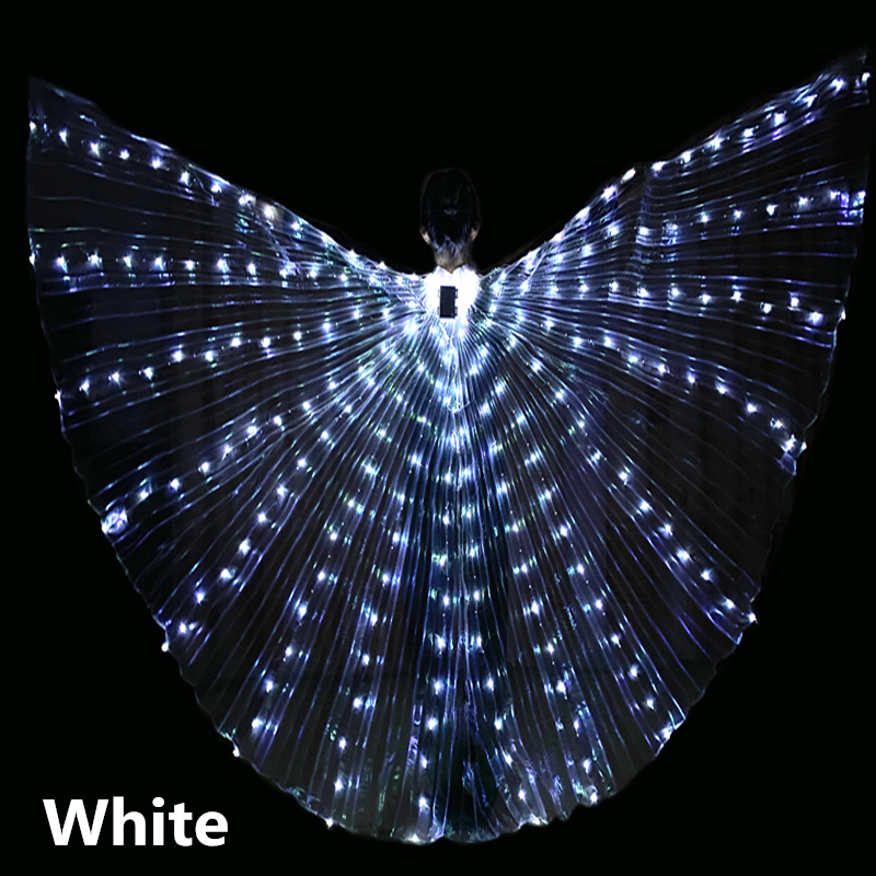 Adulto LED Dance Wings Butterfly Luminous Dancing Props Luminous Fluorescent Performance Belly Dance Cape