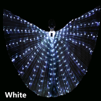 Adulto LED Dance Wings butterfly luminous dancing props luminous fluorescent performance belly dance Cape обувь для тибетских танцев butterfly dance 1204