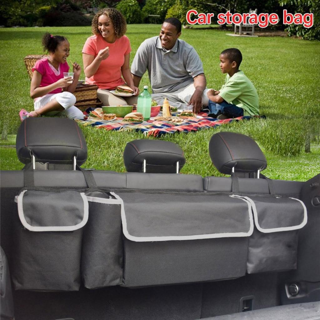 Новый автомобильный органайзер, сумка для хранения на заднем сиденье багажника, сетчатая, высокая емкость, многофункциональная, оксфордская спинка, аксессуары для интерьера, авто сиденье для автомобиля # Ger