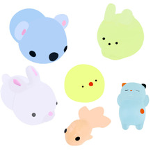 New Cute Squishy Animal Mochi Rising Squeeze Toys Luminous Antistress Ball Soft Sticky Stress Relief Funny Gift
