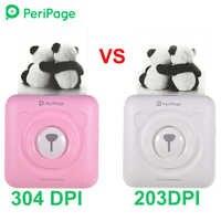 PeriPage 304 DPI Mini Tragbare Bluetooth Foto Drucker Tasche Thermische Druck USB Verbindung Impresoras Fotos Geschenke