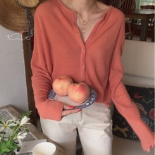 New Autumn Dress, Korean Version, Chic Thin Sweater, Womens Cardigan, Loose Knitted V-collar Jacket