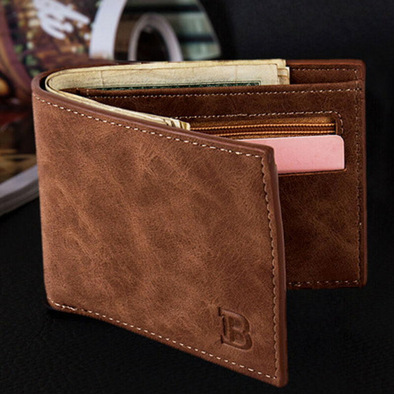 High Quality Luxury Mens Small Thin Soft Leather Wallet With Zipped Coin Pocket RFID Short Slim Male Purses Credit Card Holder