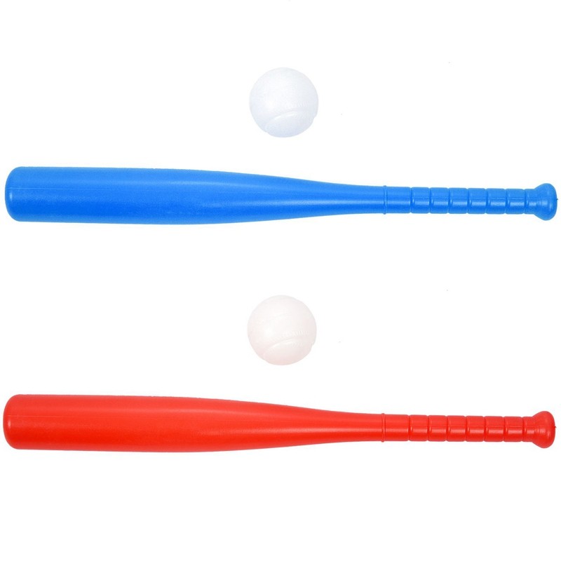 2Pcs Souviner Baseball Bat Sports Toys Children's Toys Baseball Bat Red & Blue