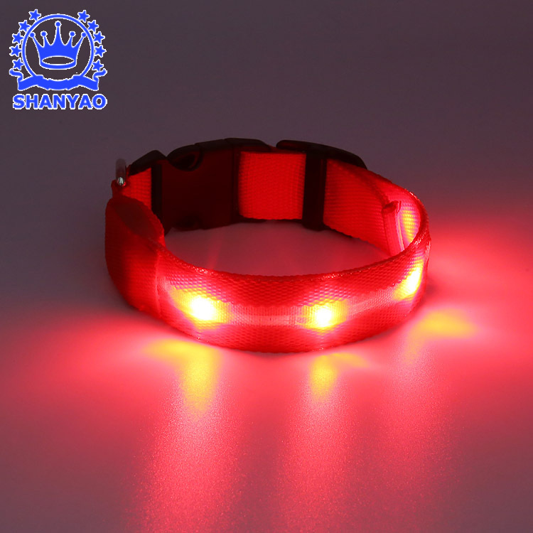LED Rechargeable Light Belt Glowing Pet Collar Night Light Dog Collar Flash Poodle Necklace Christmas Gift