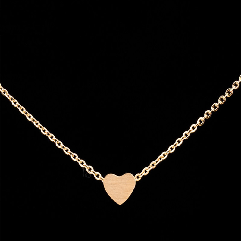 Fashion Heart Necklaces for Women Tiny Heart Pendant Necklace Gift Friendship Jewelry collane collar in Chain Necklaces from Jewelry Accessories