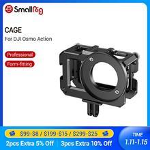 Gaiola para DJI SmallRig Osmo Ação (Compatível com Adaptador de Microfone) Montagens Gaiola Câmera Com Sapata Fria 2475