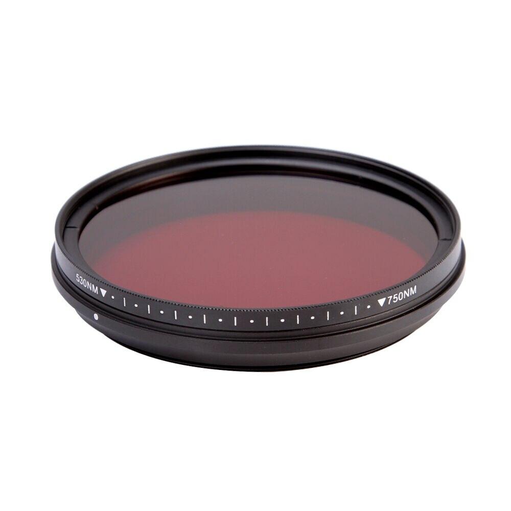 Einstellbare IR Objektiv Filter Pass Infra-Rot 530nm zu 750nm 590nm 680nm 720nm