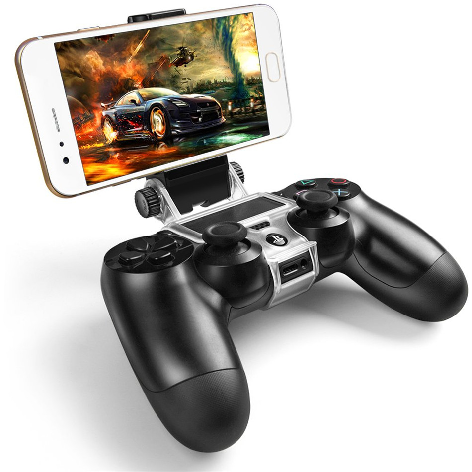 Cellphone Clamp Mobile Phone Gaming Clip Holder Clamp Handle Bracket For PS4 DualShock 4 Game Controller Gamepad Adjustable Clip