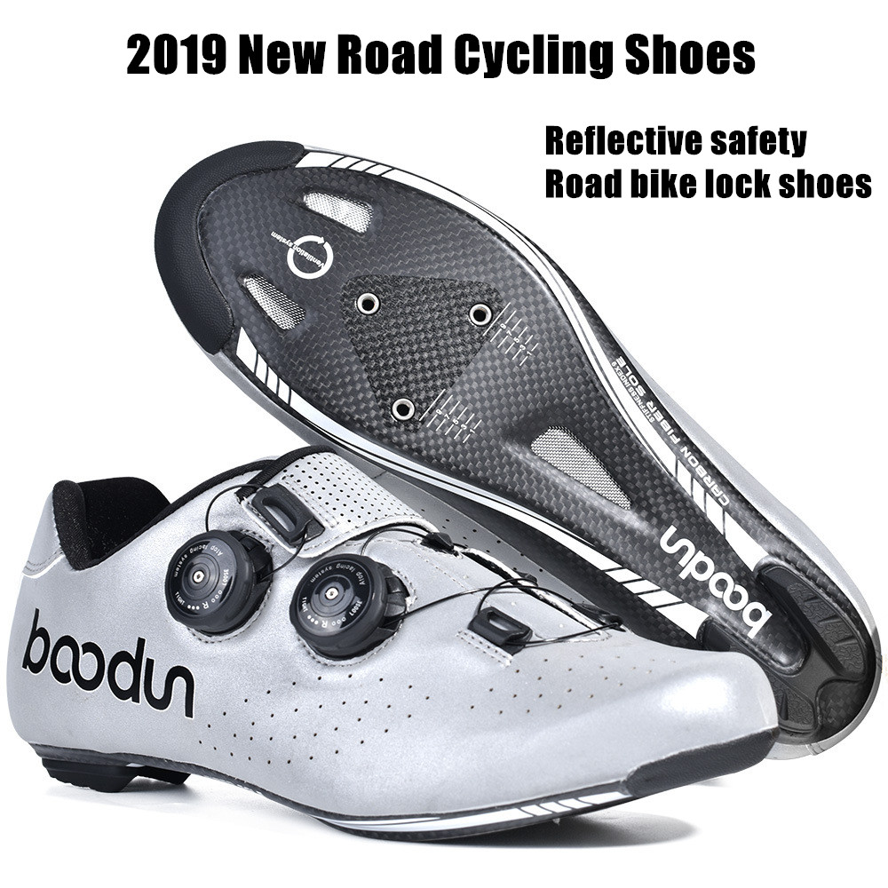 HOT 2019 New Road Cycling Shoes Carbon Fiber Self Locking Ultralight Breathable Wear Non slip professional Bicycle Racing Shoes Cycling Shoes     - title=