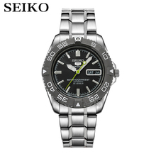 Seikoนาฬิกาผู้ชาย 5 Automaticนาฬิกาแบรนด์หรูกันน้ำนาฬิกาข้อมือกีฬาวันที่บุรุษนาฬิกานาฬิกาดำน้ำRelogio Masculin Snzb
