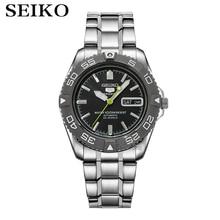 Seiko relógio de pulso, homens 5 relógios de luxo marca automáticos relógio de pulso à prova d água esporte data homens relógios de mergulho masculino snzb