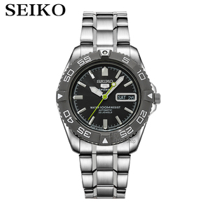 Image 1 - seiko watch men 5 automatic watch Luxury Brand Waterproof Sport Wrist Watch Date mens watches diving watch relogio masculin snzb