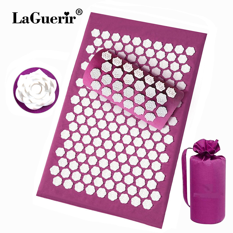 Lotus thorn acupuncture massage mat acupressure mat pillow body back massage pain relieve relax yourself Relaxation cushion bag-in Massage & Relaxation from Beauty & Health