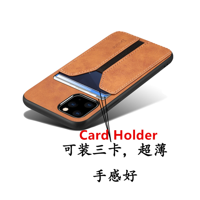 Deluxe Leather Card Holder Case for iPhone 11/11 Pro/11 Pro Max 2