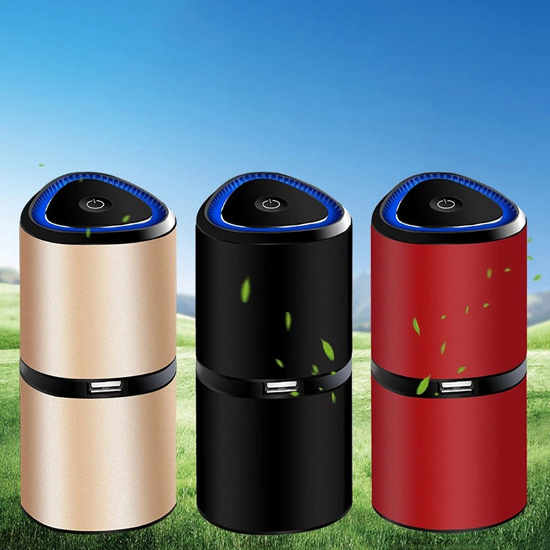 Car Air Purifier Mini Portable Air Freshener USB Purifiers Home Office Humidificador Eliminate Smog PM2.5 Lonizer Sterilizer