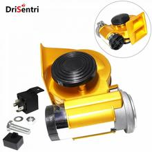 12V 139dB Car lacquer Gold Snail Compact Dual Air Horn for Vehicle Motorcycle Yacht Boat SUV New