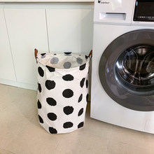Tecido dobrar saco de lavanderia grande alça lingerie meias roupa interior sacos de lavanderia roupas sujas lavar roupa produtos domésticos dg50lb