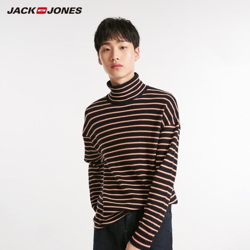 JackJones Winter Men's Turtle Collar Stripe Long Sleeve Sweater Style 218424521