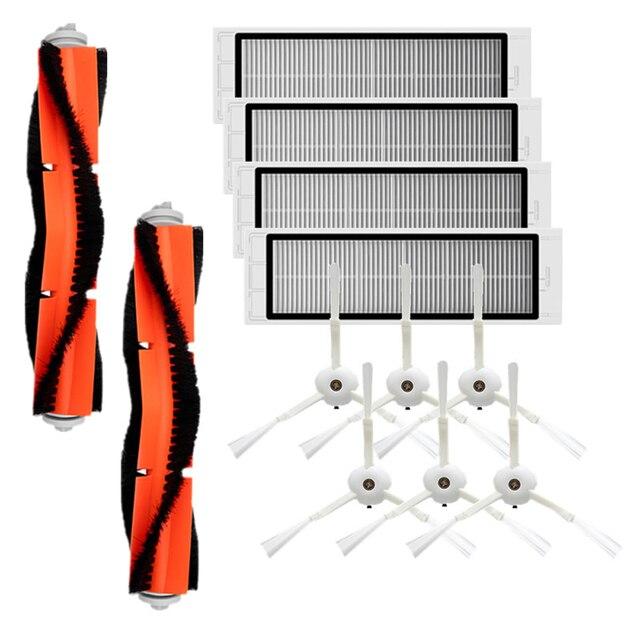 Roborock Accessori di 6Pcs Spazzola Laterale 4Pcs HEPA Filtro 2Pcs Spazzola Principale Aspirapolvere 1S e S T Serie