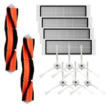 Roborock Accessories of 6Pcs Side Brush 4Pcs HEPA Filter 2Pcs Main Brush Vacuum Cleaner 1S and S T Series