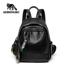 Genuine Leather Women's  Backpack Bag Casual Waterproof Real Cowhide Female Luxury Pack Travel Girl Mini Backpacks Lady Travel