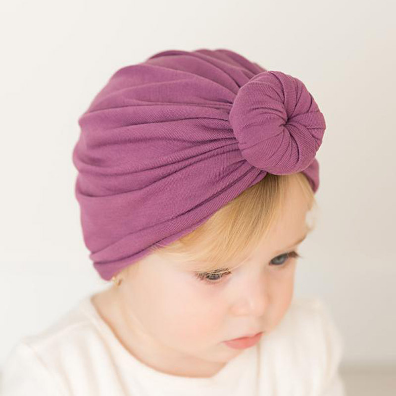 Baby Solid Cotton Head Scarf Children Inner Caps For Hijab Islamic Clothing Wrap Turbante Ready To Wear Muslim Kids Hijab Bonnet