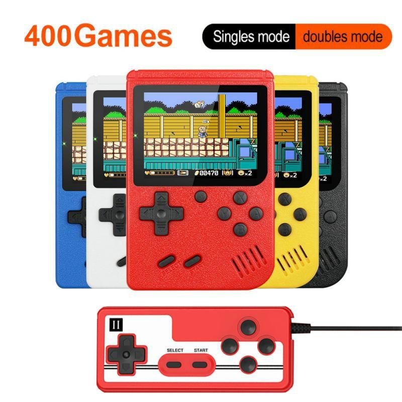 3 дюйма портативных игровых консолей 400 В 1 Ретро видео Игровая приставка 8-битный игровой плеер портативный игроки геймпады для детей подаро...