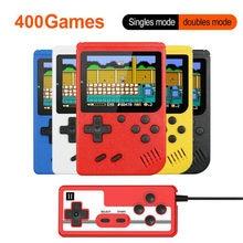 3 polegadas handheld consoles de jogos 400 em 1 retro console de jogos de vídeo 8 bits jogador de jogo handheld jogadores gamepads para o presente das crianças