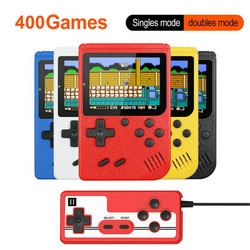 3 inch Handheld Game Consoles 400 IN 1 Retro Video Game Console 8 Bit Game Player Handheld Game Players Gamepads for Kids Gift