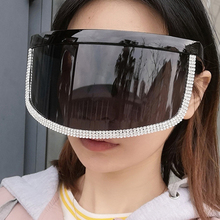 Oversized Shield Sunglasses For Women New Luxury Brand Clear