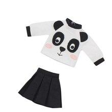 DBS Muñeca blyth icy de juguete, traje, panda, falda, camisa, regalo, juguete