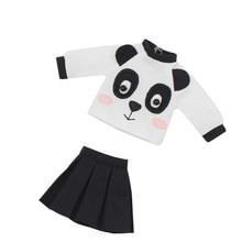 DBS glacé blyth poupée jouet tenue robe costume panda mignon jupe chemise cadeau jouet