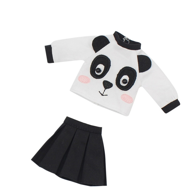 DBS icy blyth doll toy outfit dress suit panda cute skirt shirt gift toy